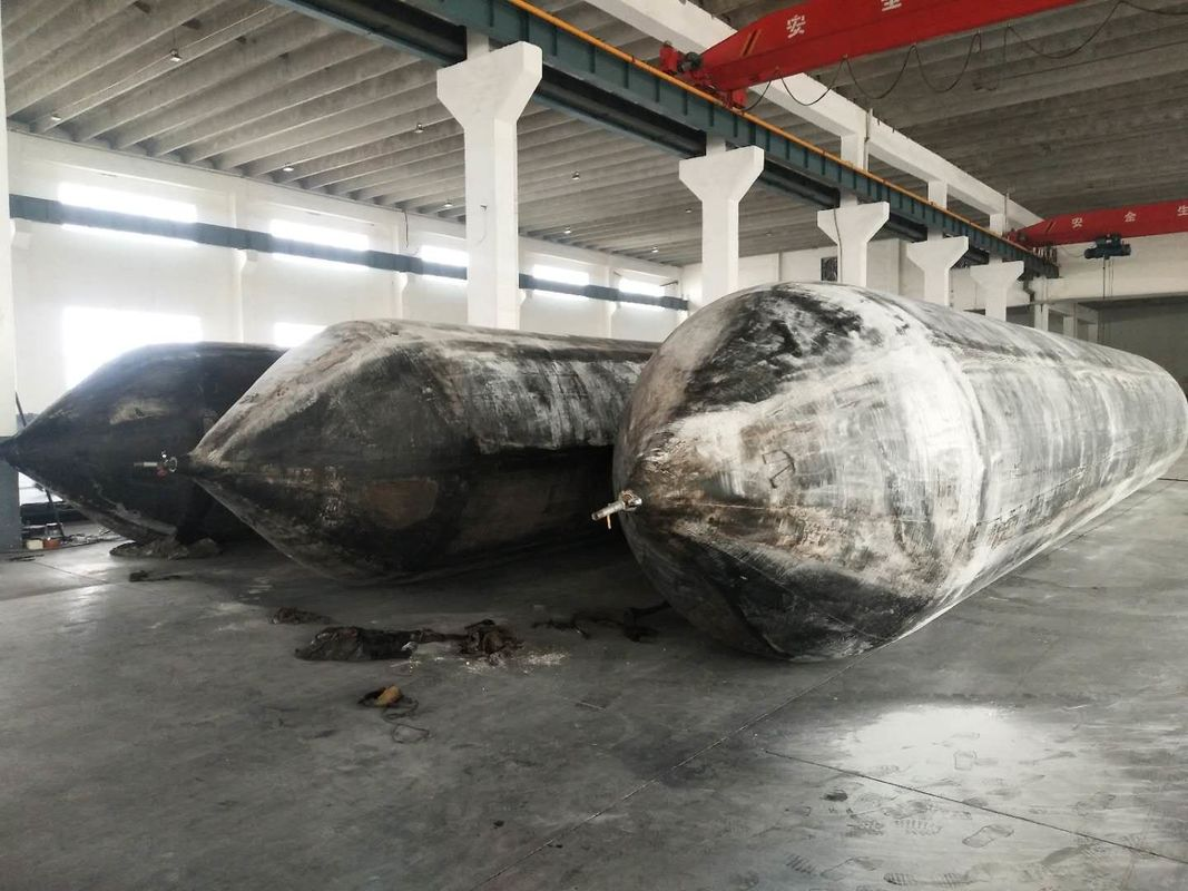 6 Layers Marine Rubber Airbag Boat Lift Bags For Indonesian Shipyards